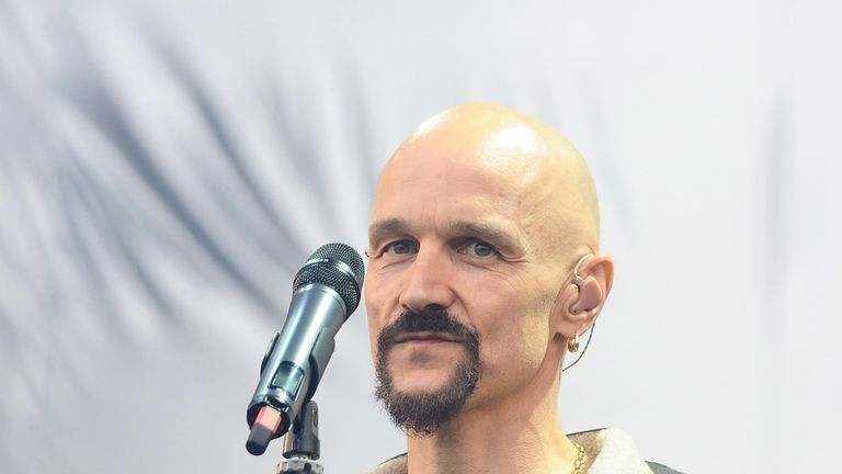 Tim Booth, the lead singer of the band James, criticised Donald Trump