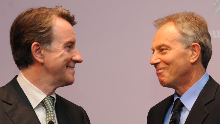 Lord Mandelson and Tony Blair