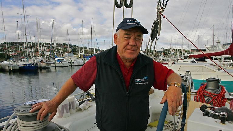 Veteran British yachtsman Tony Bullimore