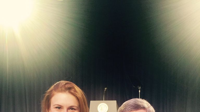 Maria Butina with envoy Alexander Torshin