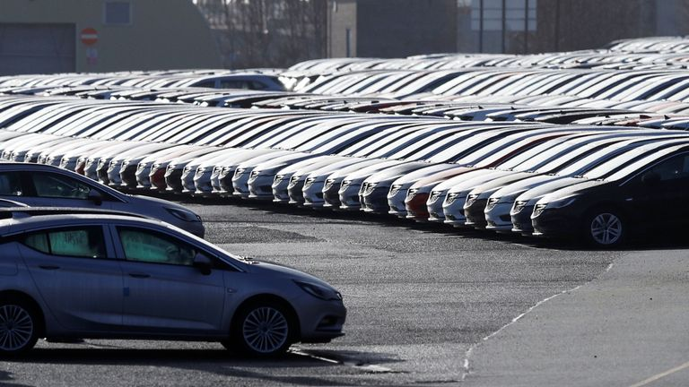 Vauxhall cars at Ellesmere Port