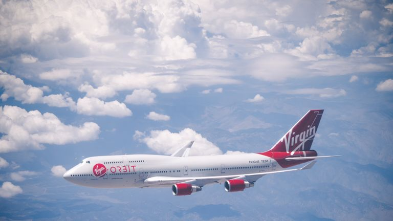 Virgin Orbit's aircraft 'Cosmic girl'