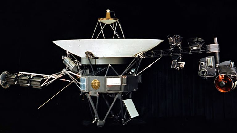 It was carried on the Voyager