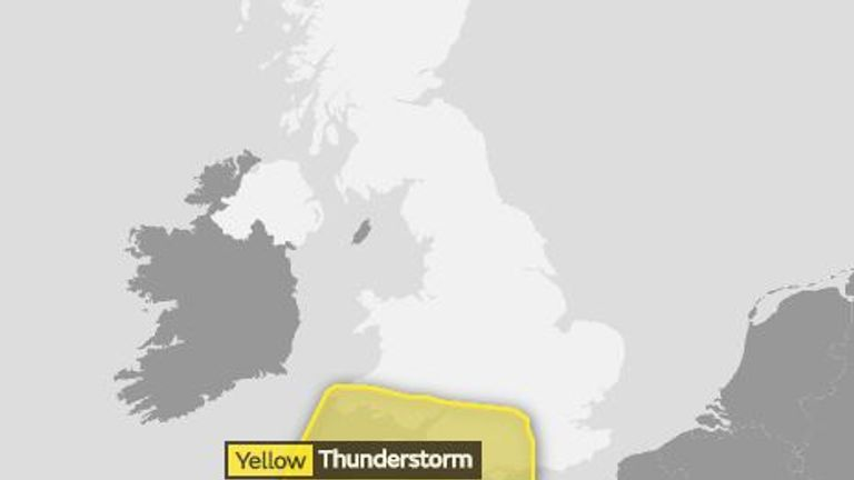 The warning has been extended to more central England
