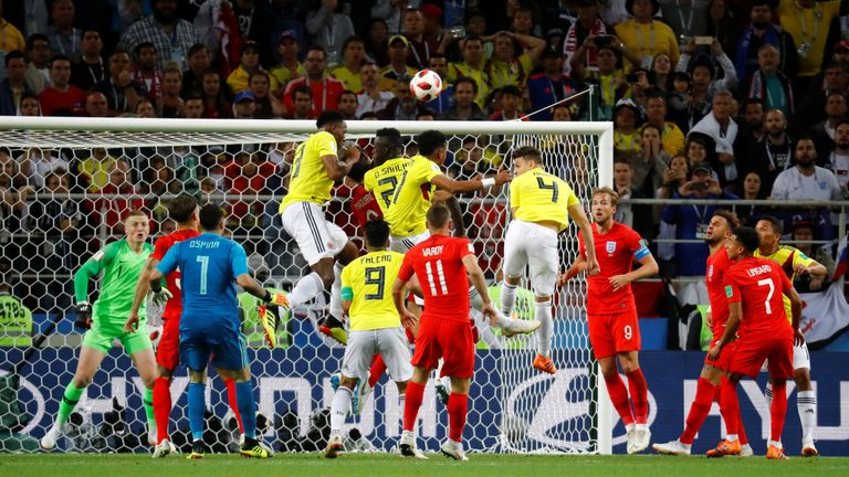 Colombia equalised in injury time