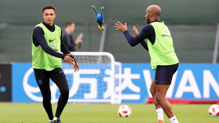 Trent Alexander-Arnold hits crossbar in England training session to settle argument
