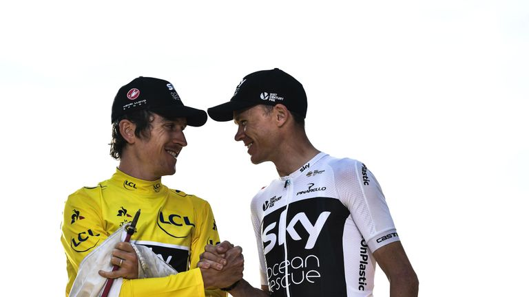 Chris Froome (right)