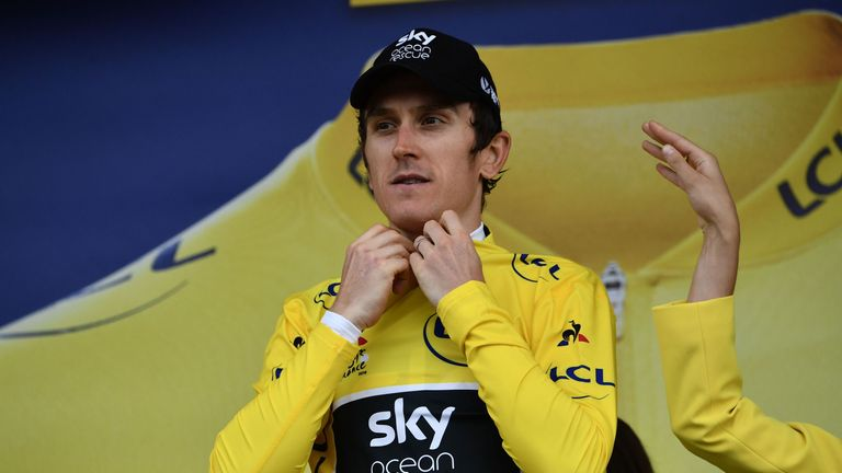 Geraint Thomas took a huge step towards his first Grand Tour victory on stage 17
