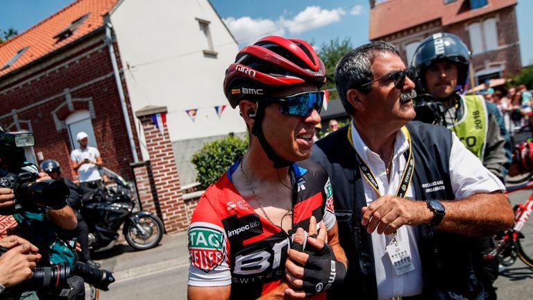 Richie Porte abandoned the Tour de France after a heavy crash on stage nine