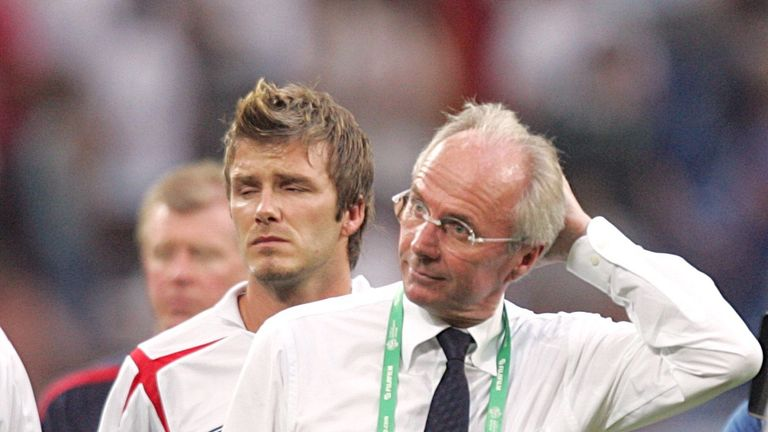 Sven-Goran Eriksson and David Beckham feel World Cup heartbreak in 2006