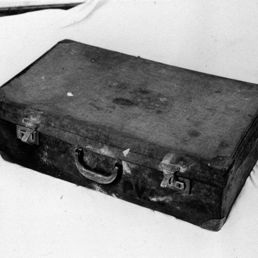 One of the suitcases which contained parts of a dismembered body of Bernard Oliver