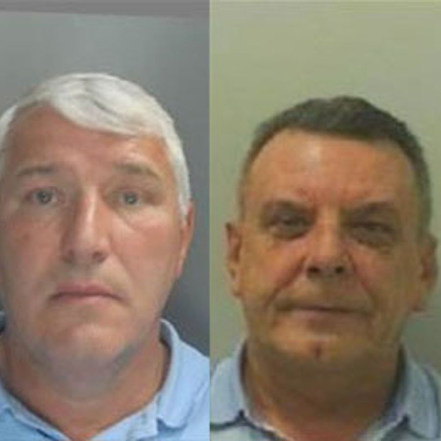 John Mulally (left) and Lesley Moulden. Pic: Northumbria Police