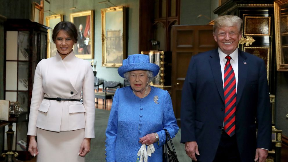 Image result for Trump and Melania met Queen Elizabeth II