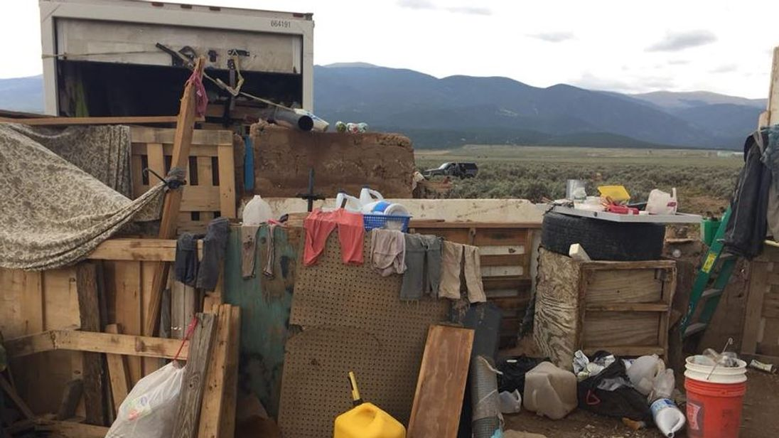 The compound in Amalia, New Mexico, where the children were found. Pic; Taos County Sheriff