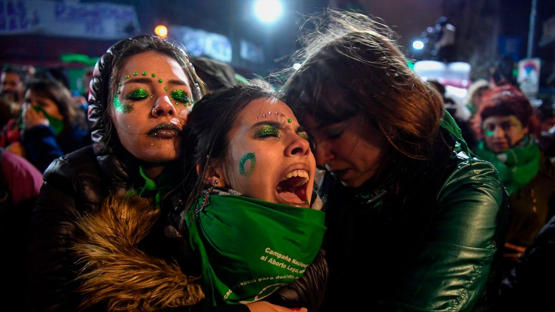 There was anguish among many of the supporters of abortion who had gathered as the vote took place