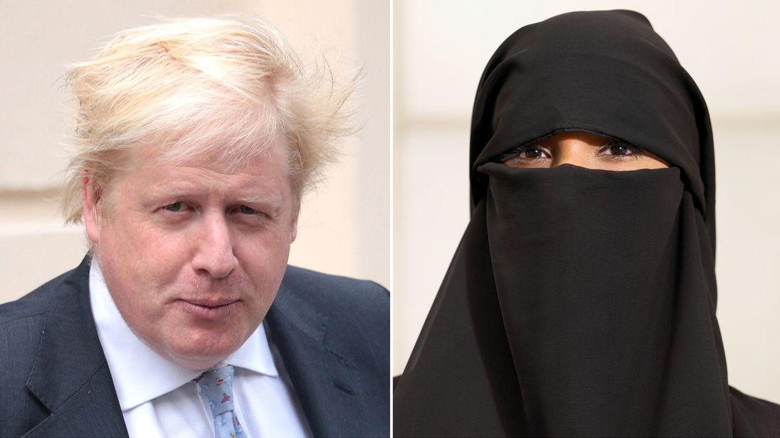 Boris Johnson under fire for 'hate' burqa comments