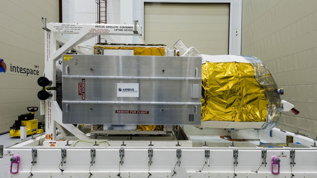 Aeolus mission launches UV laser for space-based wind metrology