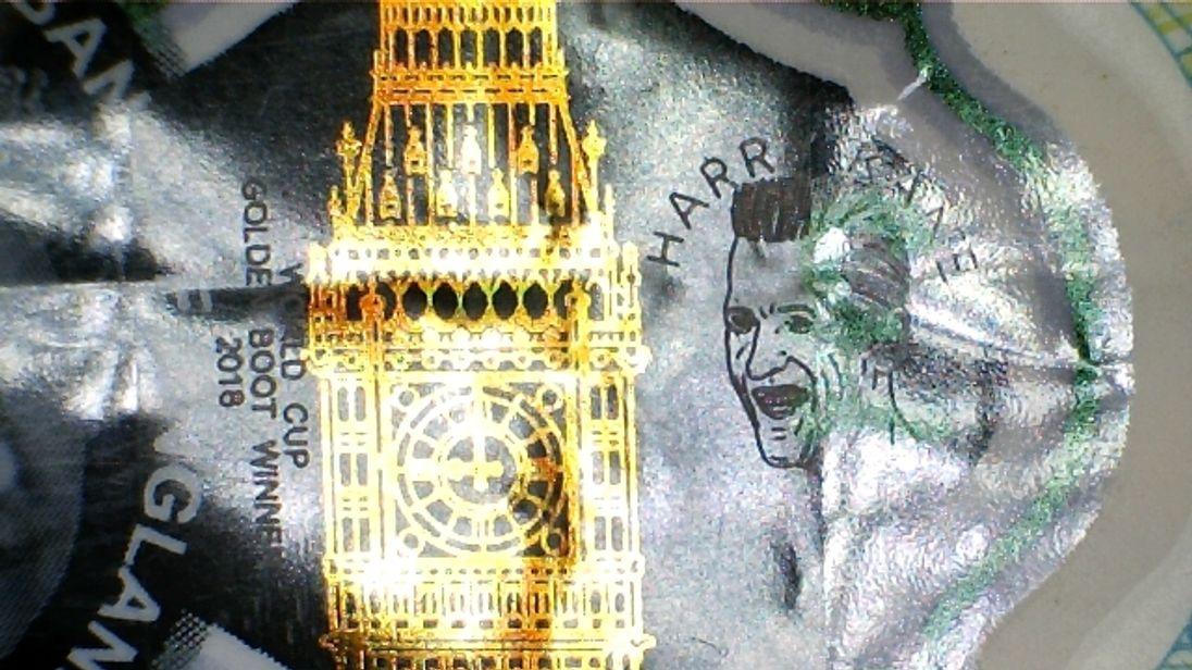 Harry Kane £5 note worth '£50000' spent in Merthyr Tydfil