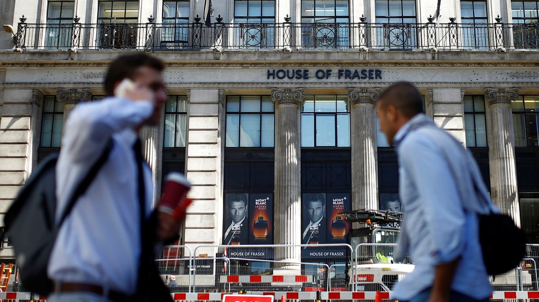 House of Fraser's website is down as administration rumours swirl