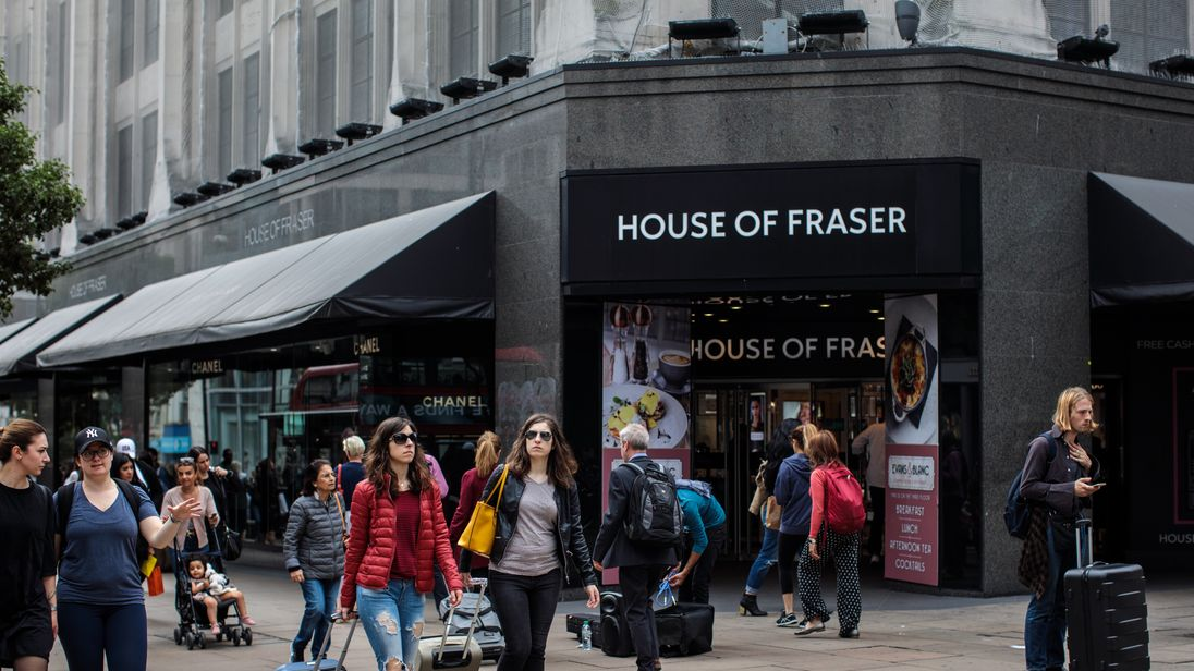 Sports Direct strikes £90m rescue deal for House of Fraser