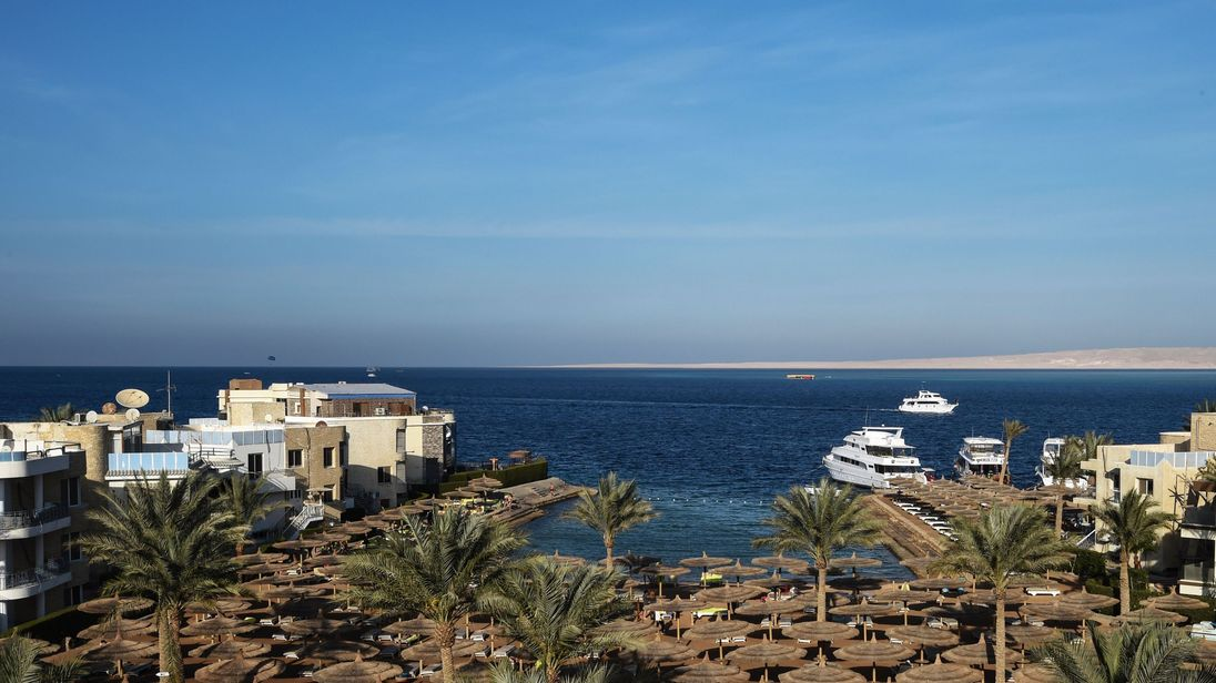Egypt's Red Sea resort of Hurghada, where a couple died. File pic