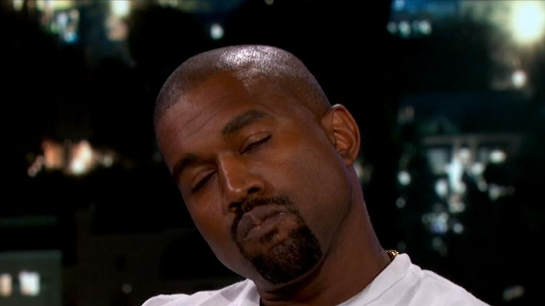 Kanye West on Jimmy Kimmel Live! Pic: ABC