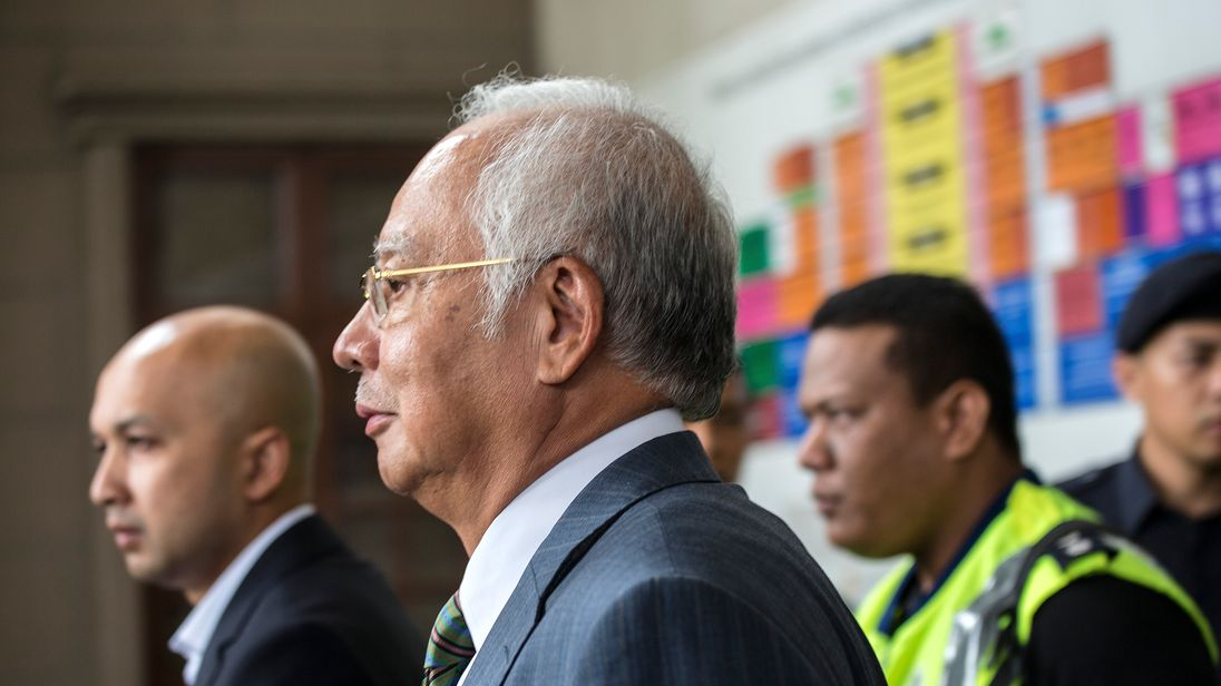 Najib Razak denied money laundering during a court appearance on Wednesday
