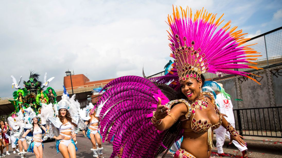Notting Hill Carnival attracts around one million people annually