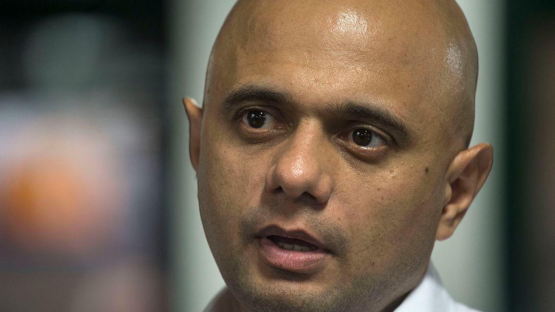 Home Secretary Sajid Javid