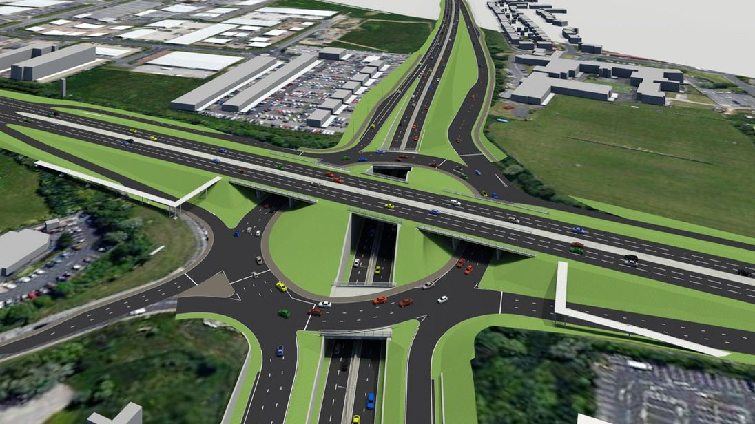 A triple-decker roundabout is planned in North Tyneside