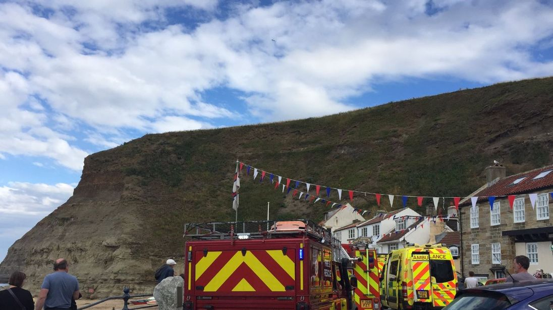 Police, fire, ambulance, air ambulance and coastguard all attended the incident. Pic: @screenhouseprod