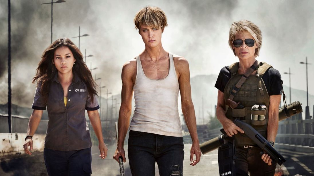 Official first look at the new Terminator featuring Natalia Reyes, Mackenzie Davis and Linda Hamilton