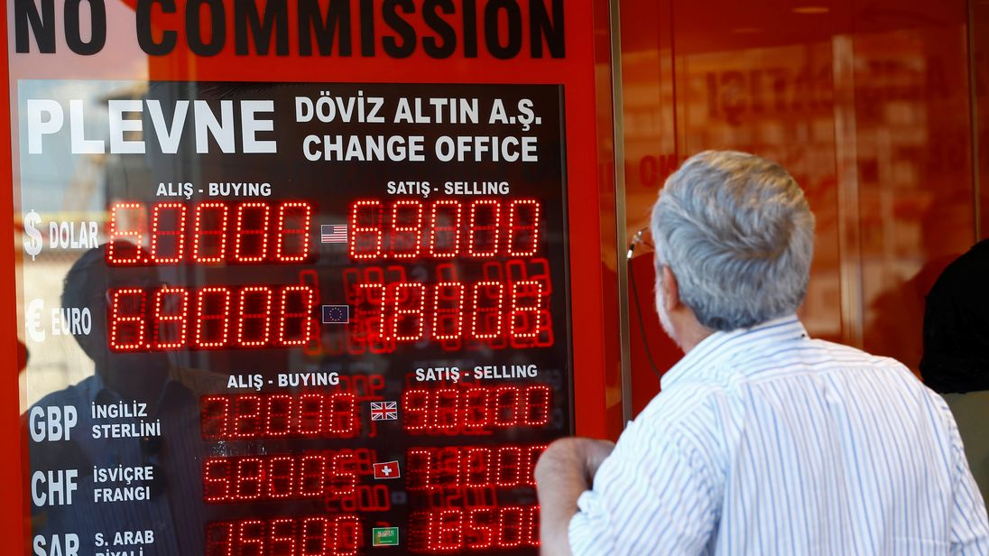 Turkey's lira has lost more than 40% of its value this year