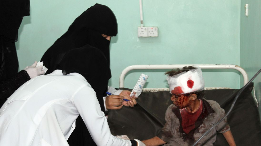 A number of children died and were injured following an air strike in Yemen
