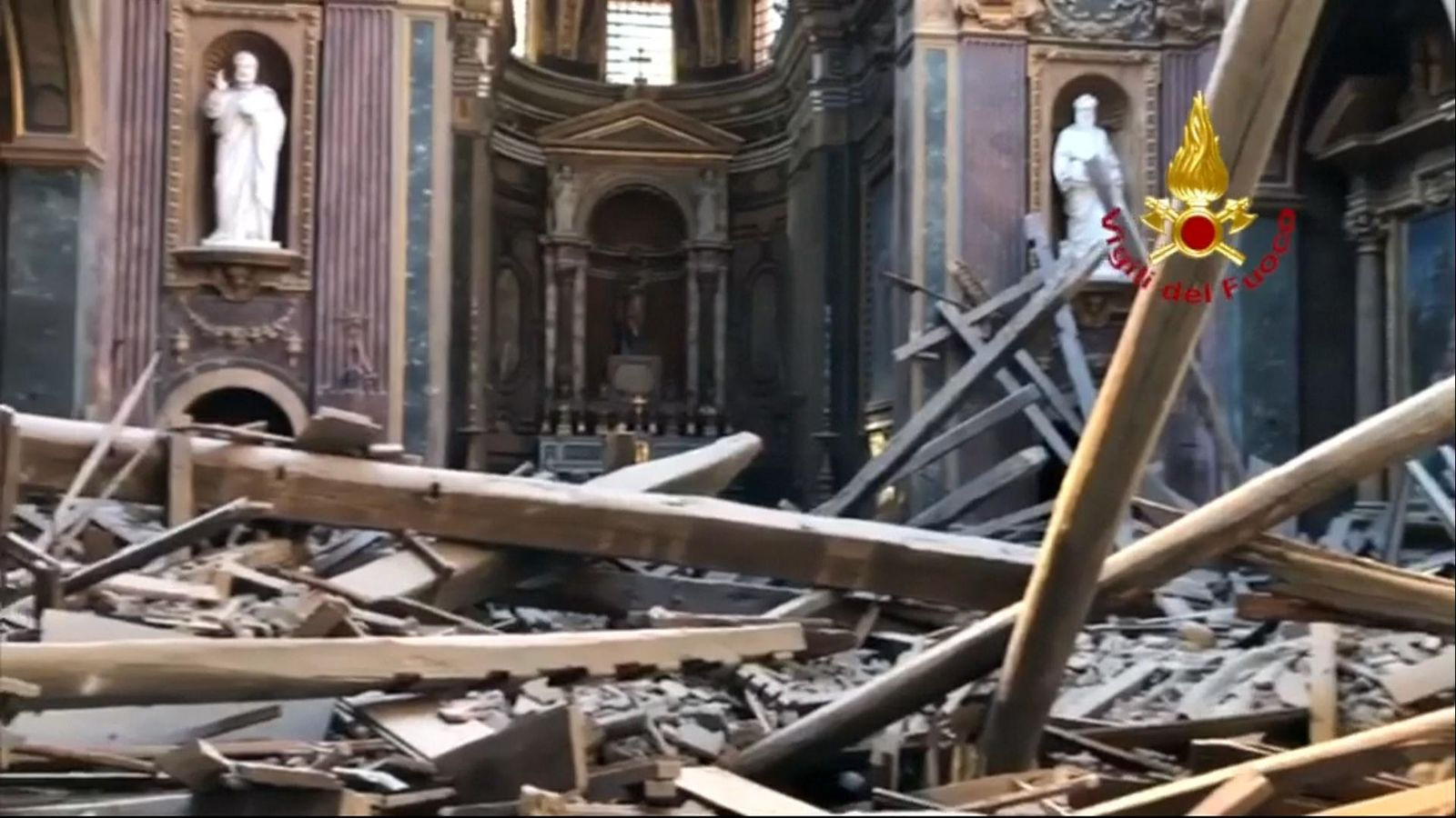Image result for church roof collapses rome