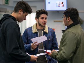A group of students at a college in Edgbaston, Birmingham
