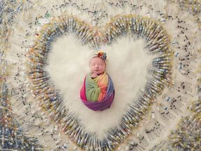 The needles took photographer Samantha Packer an hour to assemble. Pic: Packer Family Photography