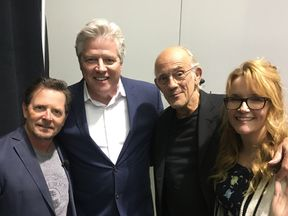 The cast of Back To The Future reunited at a fan convention