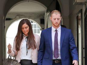 Ben Stokes arriving at Bristol Crown Court ahead of the jury's retirement