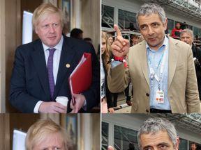Boris Johnson and Rowan Atkinson