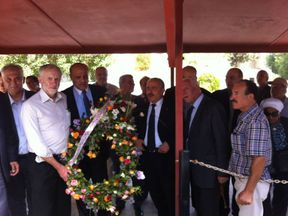 Jeremy Corbyn said he was 'present' at the memorial. Pic: Embassy of Palestine in Tunisia