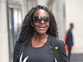 Labour MP Fiona Onasanya arrives at the Old Bailey, London, to be charged with perverting the course of justice after allegedly lying about who was behind the wheel of a speeding vehicle. PRESS ASSOCIATION Photo. Picture date: Monday August 13, 2018. See PA story COURTS Onasanya. Photo credit should read: Stefan Rousseau/PA Wire