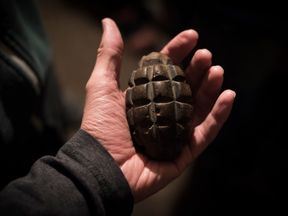The grenades are believed to come from the former Yugoslavia