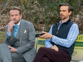 "The actor Dallas Roberts as Bob Armstrong, left, in ""Insatiable"""