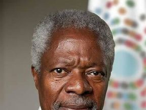 Kofi Annan's death was announced by the UN