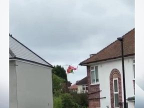 An air ambulance was sent to the scene. Pic: Manisha Sees