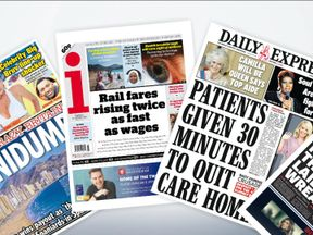 Tuesday's national newspaper front pages