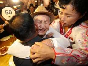 North and South Korean family members meet during the reunion