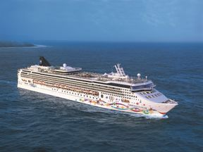 The woman fell from the Norwegian Star cruise ship. Pic: Norwegian Cruise Line