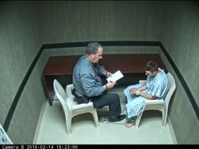 Parkland shooter Nikolas Cruz is interviewed by police.